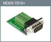 Male DB-9 10-Position Adapter
